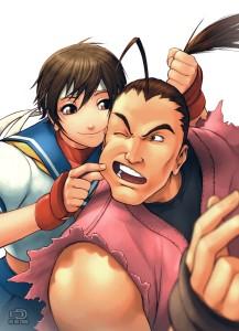 Street Fighter - Sakura Kasugano and Dan Hibiki