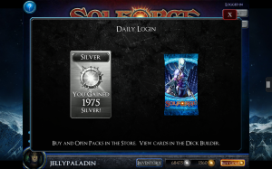 SolForge - Daily Login