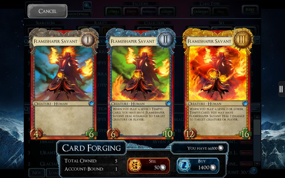 SolForge - Flameshaper Savant