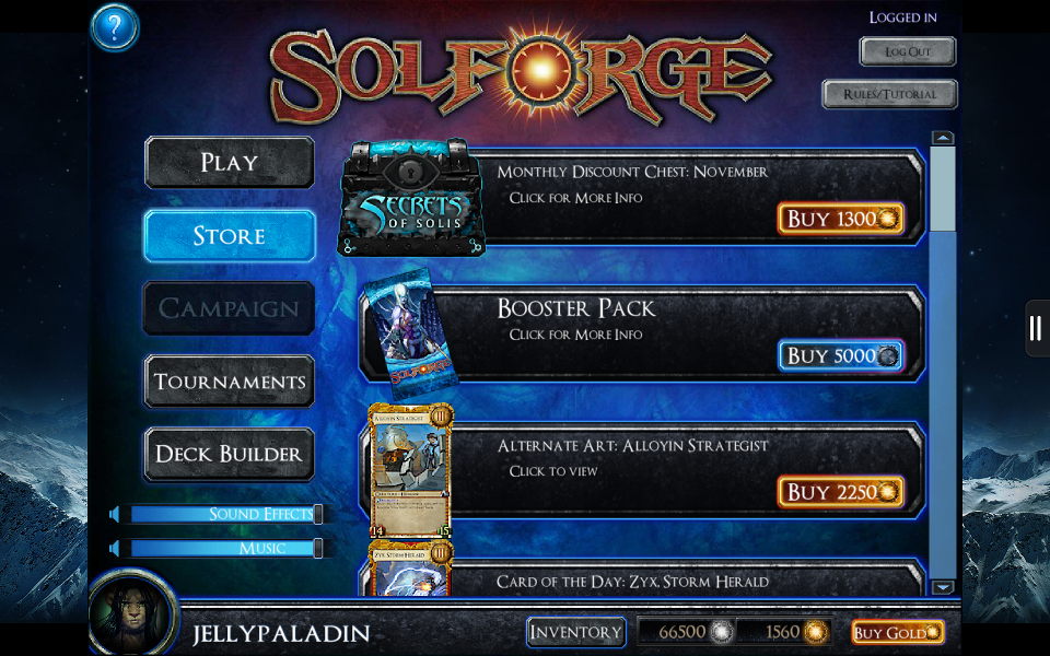 SolForge - Store